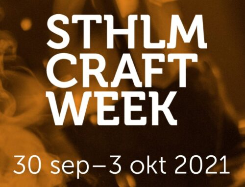 PRESSMEDDELANDE: STHLM CRAFT WEEK 2021